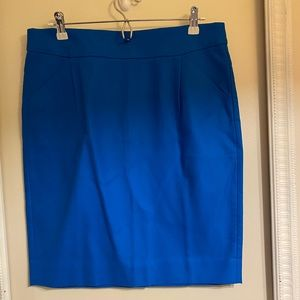 Dresses & Skirts - Bright blue j crew factory pencil skirt.